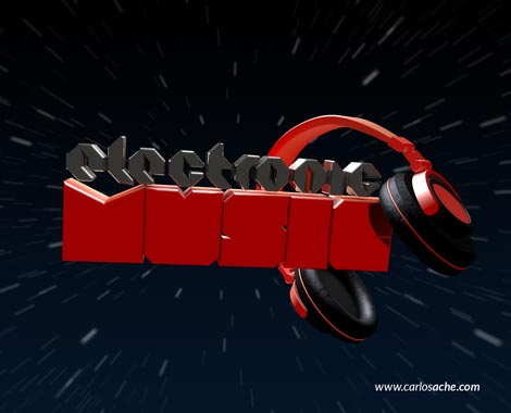 Electronic Music 3D Render